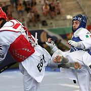 Roma 03/06/2018 Stadio Pietrangeli<br /> World Taekwondo Gran Prix<br /> Uomini -80 Kg<br /> Roberto Botta (blu)
