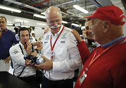 November 25, 2017 - Abu Dhabi, United Arab Emirates - Motorsports: FIA Formula One World Championship 2017, Grand Prix of Abu Dhabi, ..Toto Wolff (AUT, Mercedes AMG Petronas Formula One Team),  Dr. Dieter Zetsche (Chairman of the Board of Management of Daimler AG, Head of Mercedes-Benz Cars),  Bodo Uebber (GER), Niki Lauda (AUT, Mercedes AMG Petronas Formula One Team) (Credit Image: © Hoch Zwei via ZUMA Wire)