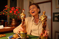 UK ENGLAND LONDON 11JAN10 - Austrian-born Luise Rainer, the first film actress to win two consecutive academy awards celebrates her 100th birthday on 12 January 2010 at her home in London...jre/Photo by Jiri Rezac..© Jiri Rezac 2010