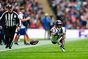 Houston Texans Wide Receiver Steven Mitchell Jr. (11) in action during the International Series match between Jacksonville Jaguars and Houston Texans at Wembley Stadium, London, England on 3 November 2019.
