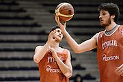 Biella, 14/12/2012<br /> Basket, All Star Game 2012<br /> Allenamento Nazionale Italiana Maschile <br /> Nella foto: matteo imbro, daniele magro<br /> Foto Ciamillo