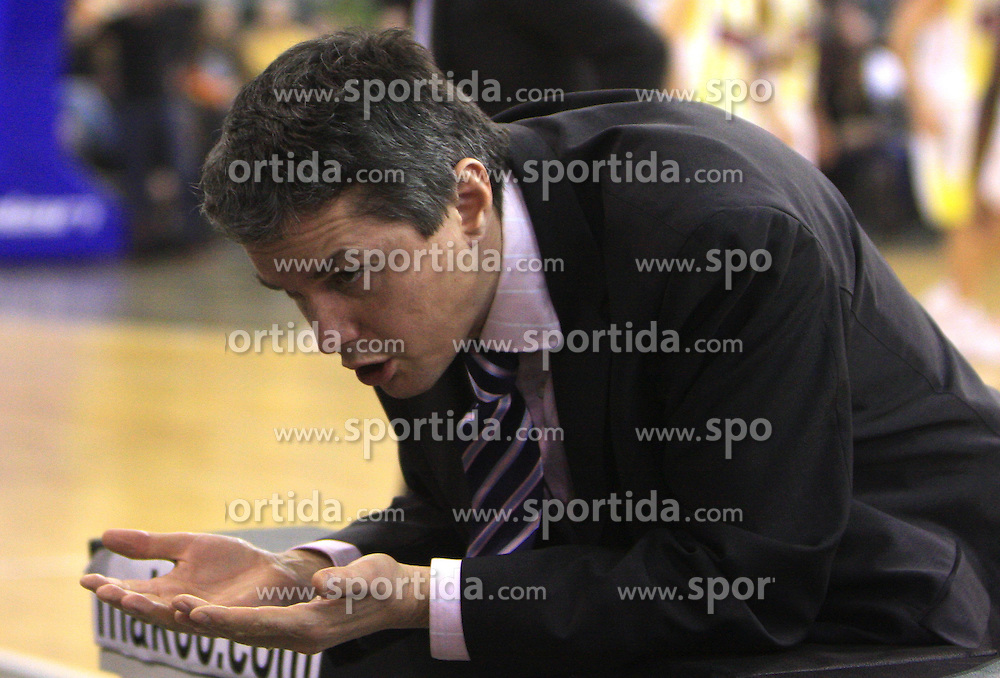 Assistant Coach of Olimpija Zoran Martic at Euroleague basketball game in Round 9 of Group C between KK Union Olimpija, Ljubljana and Fenerbahce Ulker, Istanbul, on January 8, 2009, in Arena Tivoli, Ljubljana, Slovenia. Fenerbahce won 90:70. (Photo by Vid Ponikvar / SportIda).