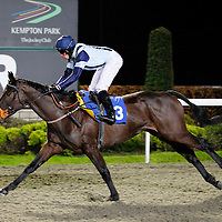 Lily Edge and S M Levey winning the 6.00 race