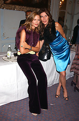 Left to right, TRINNY WOODALL and ANNABELLE BROOKS at a party to celebrate the publication of 'Princesses' the six daughters of George 111 by Flora Fraser held at the Saville Club, Brook Street, London W1 on 14th September 2004.<br />