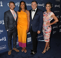 Garcelle Beauvais, Ross Matthews, Kristen Brockman, 27th Annual GLAAD Media Awards, at The Beverly Hilton Hotel, April 2, 2016 - Beverly Hills, California. EXPA Pictures © 2016, PhotoCredit: EXPA/ Photoshot/ Celebrity Photo<br /> <br /> *****ATTENTION - for AUT, SLO, CRO, SRB, BIH, MAZ, SUI only*****