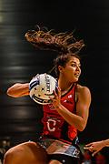Kimiora Poi of the Tactix during the ANZ Premiership Netball match, Tactix v Stars, Horncastle Arena, Christchurch, New Zealand, 23rd April 2019.Copyright photo: John Davidson / www.photosport.nz