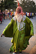 A Ghanaian celebrates New Years in costume on January 1, 2012.  Photo by Daniel Hayduk