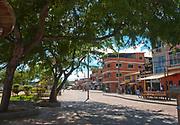 The town of Puerto Baquerizo Moreno at San Cristobal (Chatham), Galapagos.