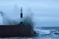 © Licensed to London News Pictures. 31/12/2013. Aberystwyth, UK The final day of 2013 sees more storms striking the West Wales coastal town of Aberystwyth. Photo credit : Jon Freeman/LNP