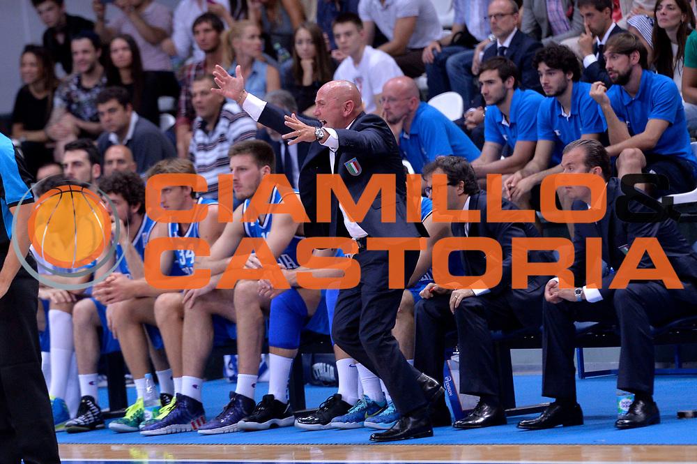 DESCRIZIONE : Mosca Moscow Qualificazione Eurobasket 2015 Qualifying Round Eurobasket 2015 Russia Italia Russia Italy<br /> GIOCATORE : Luca Dalmonte<br /> CATEGORIA : Delusione<br /> EVENTO : Mosca Moscow Qualificazione Eurobasket 2015 Qualifying Round Eurobasket 2015 Russia Italia Russia Italy<br /> GARA : Russia Italia Russia Italy<br /> DATA : 13/08/2014<br /> SPORT : Pallacanestro<br /> AUTORE : Agenzia Ciamillo-Castoria/GiulioCiamillo<br /> Galleria: Fip Nazionali 2014<br /> Fotonotizia: Mosca Moscow Qualificazione Eurobasket 2015 Qualifying Round Eurobasket 2015 Russia Italia Russia Italy<br /> Predefinita :