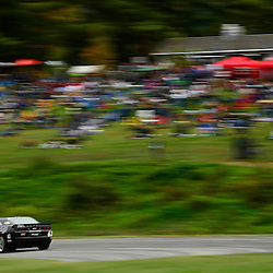 The Mitchum Motorsports Camaro GS.R driven by George Richardson and Jordan Taylor during the Grand-Am Continental Tire Sports Car Challenge GS race at Lime Rock Park in Lakeville, Conn.