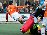 WASSENAAR - Hoofdklasse hockey heren, HGC-Bloemendaal (0-5)  . Xavi Lleonart Blanco (Bldaal) brengt de stand op 0-1.     UNITED PHOTOS /  KOEN SUYK