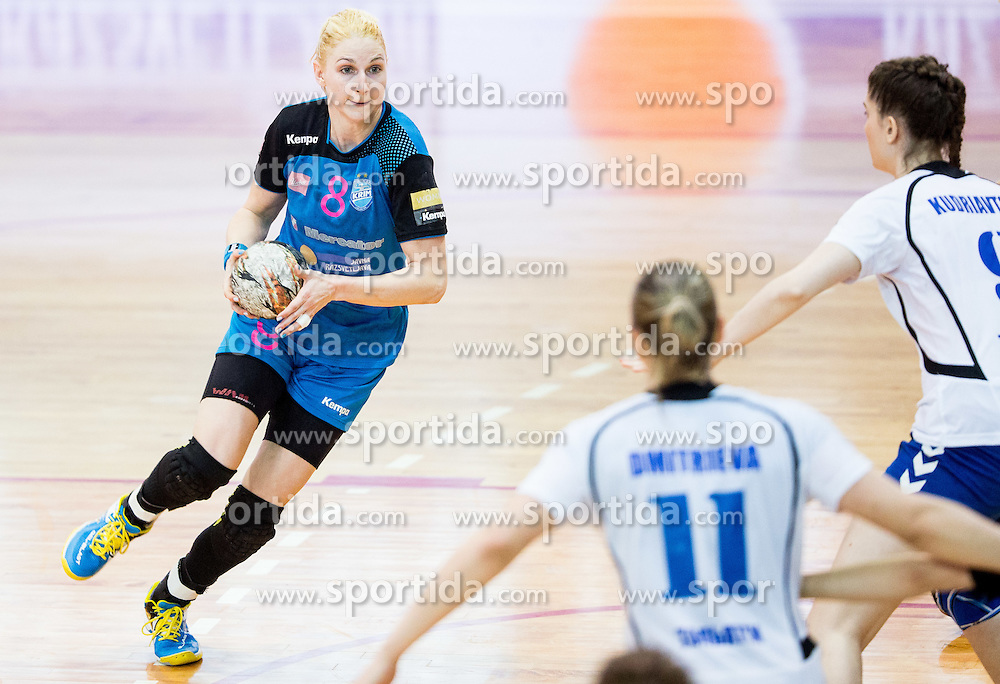 Tamara Mavsar of Krim during 2nd Leg handball match between RK Krim Mercator and HC Lada Togliatti (RUS) in Semifinal of Women Cup Winners' Cup 2015/16, on April 9, 2016 in Arena Kodeljevo, Ljubljana, Slovenia. Photo by Vid Ponikvar / Sportida