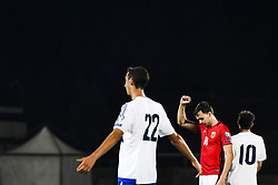 October 5, 2017 - San Marino, SAN MARINO - 171005 Ole Kristian Seln¾s of Norway celebrates 6-0 while Michele Cevoli looks dejected during the FIFA World Cup Qualifier match between San Marino and Norway on October 5, 2017 in San Marino. .Photo: Fredrik Varfjell / BILDBYRN / kod FV / 150027 (Credit Image: © Fredrik Varfjell/Bildbyran via ZUMA Wire)