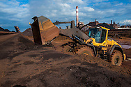 Volvo Construction Equipment wheel loader L220H from the company S.G.P. Groupe Simon in action at Acelor Mittal in Fos-sur-Mer, France. Photo: Erik Luntang