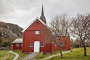 Stoksund kirke ligger på en høyde ved Revsnes i Åfjord. Den første kirken i Stoksund lå på Kjerkholmen, der ble det funnet rester av en gravplass fra middelalderen. Den nåværende kirken ble bygd i 1825 som tømret åttekantkirke. Kirken i Stoksund var i privat eie til 1820 da seks gårdbrukere (på vegne av menigheten) kjøpte kirken for 536 spesidaler, den ble solgt igjen i 1836 og innløst av kommunen i 1877. I 1820 ble det vurdert å reparere den daværende kirken, men den ble vurdert som så forfallen at det måtte bygges ny. Departementet fikk tegninger til ny kirke fra bergråd Chr.A. Collett som var konsulent for departementet i spørsmål om kirkebygg. Colletts tegninger var basert på et innsendt forslag med ukjent opphavsmann. Etter Colletts tegning skulle det oktogonale bygget være 14 meter langt og 11 meter bredt, noe han mente passet for en laftet tømmerbygning. Midt på taket skulle det være et firkantet klokkehus understøttet av fire søyler i kirkerommet.<br /> Byggingen tok til i 1824. Bygget ble oppført i laftet tømmer og ble utformet som en svakt langstrakt åttekant. Langveggene mot nord og sør var 7 meter, mens de øvrige veggene i åttekanten var 5 meter lange. Alteret var plassert i den østlige delen av det oktogonale rommet som hadde 120 sitteplasser. Taket hadde teglstein. Kirken ble innviet 10. juli 1825 av biskop Peter O. Bugge selv om innredningen ikke var ferdig. I 1880-årene var det ønske om å utvide kirken som var for trang for menigheten. Sommeren 1885 ble bygget utvidet med firkantede korsarmer i bindingsverk mot nord og sør, samtidig fikk bygget inngangspartier i tilbygg, bygget fikk nye og større vinduer. I 1885 ble alteret flyttet inn i den nordre korsarmen. Endringene i 1885 var planlagt av arkitekt O.F. Ebbell. På 1950-tallet var bygget forfallent og arkitekt John Tverdahl utarbeidet planer. Ved restaureringen i 1954-1955 ble tilbyggene fra 1885 revet. Ny korsarmer (nord-sør) i laftet tømmer fikk samme form som