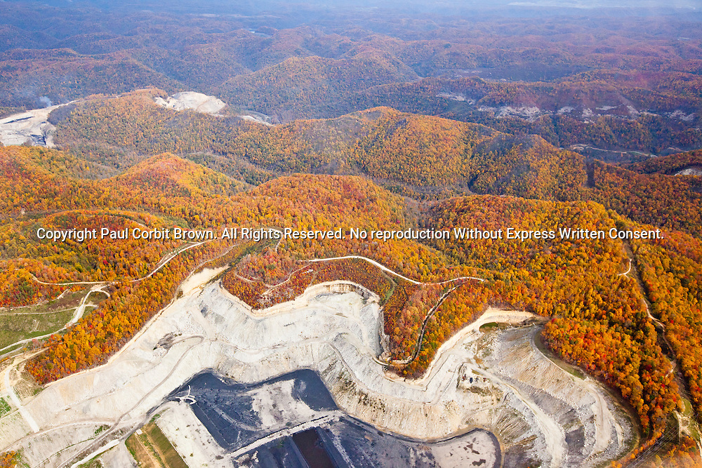 A mountaintop removal site in southern West Virginia, in or near Boone County.
