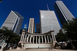 The Millennium monument in Millennium Park, Chicago