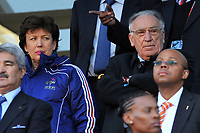 FOOTBALL - FIFA WORLD CUP 2010 - GROUP STAGE - GROUP A - FRANCE v SOUTH AFRICA - 22/06/2010 - PHOTO FRANCK FAUGERE / DPPI - ROSELYNE BACHELOT (FRANCE SPORT MINISTER) / JEAN PIERRE ESCALETTES (FFF PDT)
