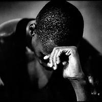 Barcelona, Spanje, 1992.<br /> Olympische zomerspelen.<br /> Een verliezer van de 100 meter finale na afloop in de kleedruimte.<br /> Foto:Klaas Jan van der Weij.