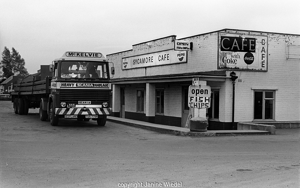 truck stop cafe outside Stoke-on-Trent in the West Midlands