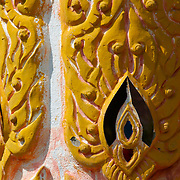 Temple detail at Wat Tor Pae at Khun Yuam in Mae Hong Song, Thailand.