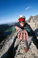 Young man climbing Prusik Peak WA&#xA;<br />