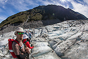 Matt takes in the amazing views from the Fox Glacier.
