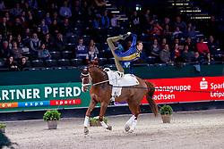 RENGEL Miro (GER), George´s Fiano<br /> Leipzig - Partner Pferd 2018   <br /> FEI World Cup Vaulting Einzel Herren 2. Runde<br /> © www.sportfotos-lafrentz.de/Stefan Lafrentz