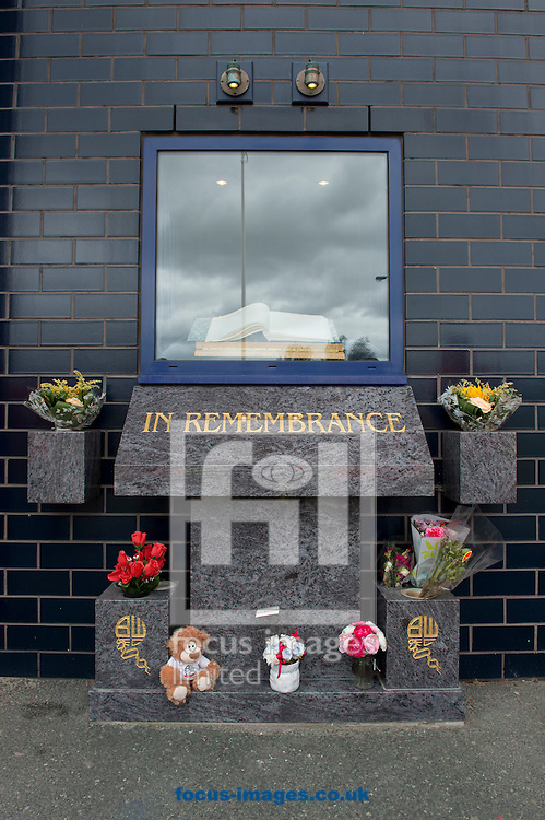A general view of a book of remembrance to Nat Lofthouse before the Sky Bet Championship match at the Macron Stadium, Bolton<br /> Picture by Russell Hart/Focus Images Ltd 07791 688 420<br /> 16/08/2014