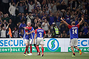 Zinedine Zidane (France 98) celebrated the goal scored by Alain BOGHOSSIAN (France 98), Bixente Lizarazu (France 98), Alain BOGHOSSIAN (France 98) during the 2018 Friendly Game football match between France 98 and FIFA 98 on June 12, 2018 at U Arena in Nanterre near Paris, France - Photo Stephane Allaman / ProSportsImages / DPPI