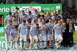 """Foto Filippo Rubin<br /> 18/05/2017 Ferrara (Italia)<br /> Sport Calcio<br /> Spal vs Bari - Campionato di calcio Serie B ConTe.it 2016/2017 - Stadio """"Paolo Mazza""""<br /> Nella foto: la Spal festeggia la vittoria del campionato<br /> <br /> Photo Filippo Rubin<br /> May 18, 2016 Ferrara (Italy)<br /> Sport Soccer<br /> Spal vs Bari - Italian Football Championship League B ConTe.it 2016/2017 - """"Paolo Mazza"""" Stadium <br /> In the pic: Spal celebrate"""