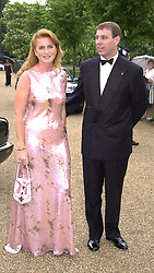 HRH The DUKE OF YORK and SARAH, DUCHESS OF YORK,<br />  at a dinner in London on 20th June 2000.OFO 87<br /> © Desmond O'Neill Features:- 020 8971 9600<br />    10 Victoria Mews, London.  SW18 3PY <br /> www.donfeatures.com   photos@donfeatures.com<br /> MINIMUM REPRODUCTION FEE AS AGREED.<br /> PHOTOGRAPH BY DOMINIC O'NEILL