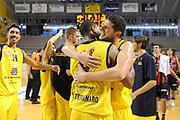 DESCRIZIONE : Ancona Lega A 2012-13 Sutor Montegranaro Angelico Biella<br /> GIOCATORE : Valerio Amoroso Tamar Slay<br /> CATEGORIA : esultanza<br /> SQUADRA : Sutor Montegranaro<br /> EVENTO : Campionato Lega A 2012-2013 <br /> GARA : Sutor Montegranaro Angelico Biella<br /> DATA : 02/12/2012<br /> SPORT : Pallacanestro <br /> AUTORE : Agenzia Ciamillo-Castoria/C.De Massis<br /> Galleria : Lega Basket A 2012-2013  <br /> Fotonotizia : Ancona Lega A 2012-13 Sutor Montegranaro Angelico Biella<br /> Predefinita :