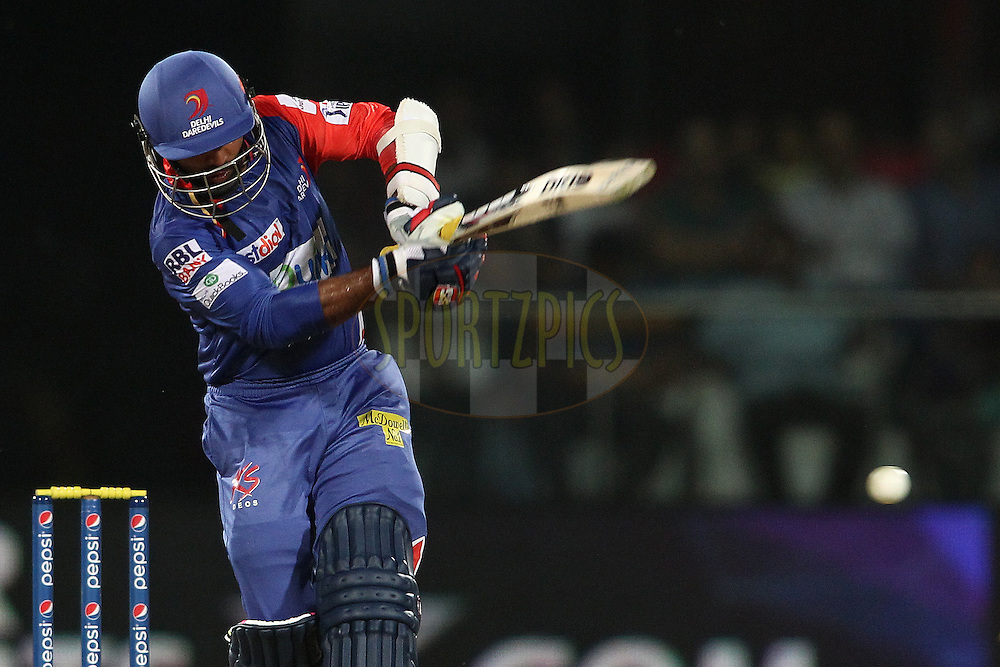Dinesh Karthik of the Delhi Daredevils pulls a delivery through the leg side during match 26 of the Pepsi Indian Premier League Season 2014 between the Delhi Daredevils and the Chennai Super Kings held at the Feroze Shah Kotla cricket stadium, Delhi, India on the 5th May  2014<br /> <br /> Photo by Shaun Roy / IPL / SPORTZPICS<br /> <br /> <br /> <br /> Image use subject to terms and conditions which can be found here:  http://sportzpics.photoshelter.com/gallery/Pepsi-IPL-Image-terms-and-conditions/G00004VW1IVJ.gB0/C0000TScjhBM6ikg