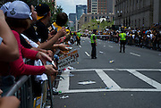 June 18, 2011, Boston, MA - Fans wait for the parade to start. Photo by Lathan Goumas.