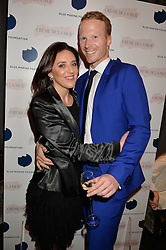 KERRY EVANS and NICHOLAS FERGUSON at the Creme de la Mer Blue Marine Foundation Dinner held at The Arts Club, 40 Dover Street, London on 23rd June 2015.