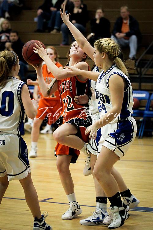 February/6/12:  MCHS JV Girl's Basketball vs Clarke.  Madison defeats Clarke 39-33.