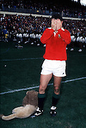 GAVIN HASTINGS - LIONS CAPTAIN STANDS TOTALLY DEJECTED FOLLOWING DEFEAT IN THE THIRD TEST RESULTING IN A 2-1 SERIES VICTORY TO THE ALL BLACKS .NEW ZEALAND V BRITISH LIONS, 3RD TEST, AUCKLAND 1993