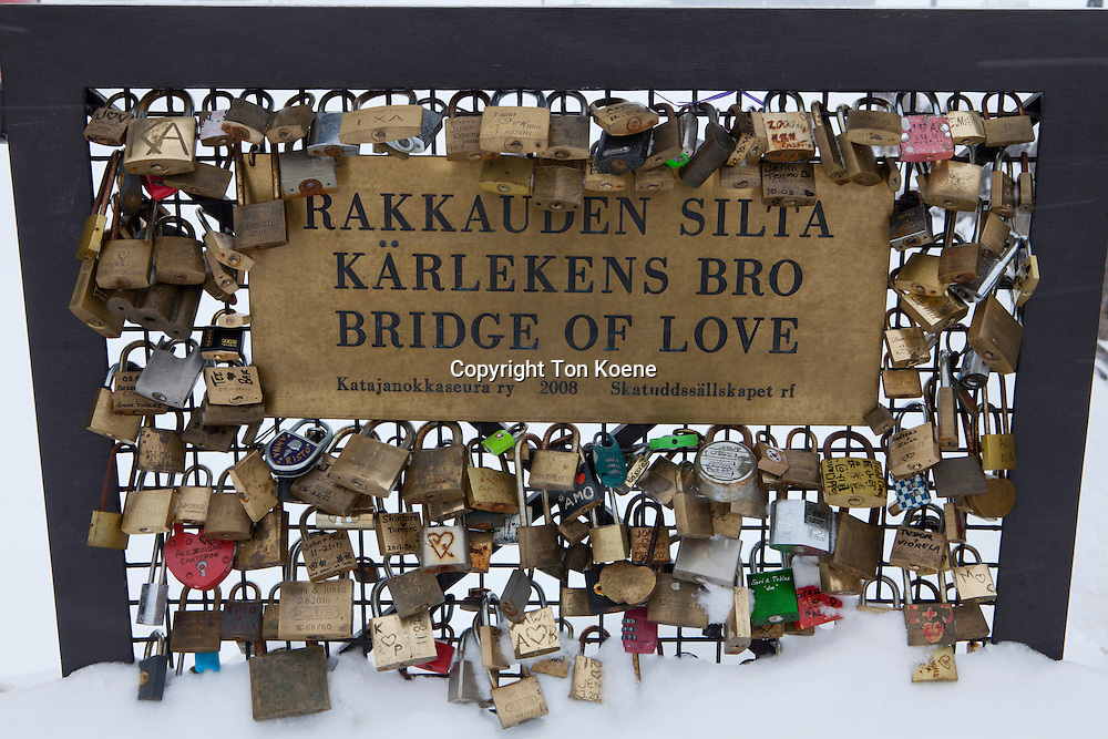bridge of love in Helsinki