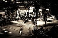 night traffic Hanoi