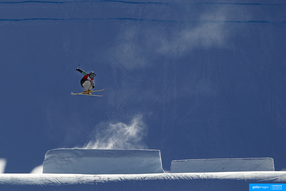 Jossie Wells, New Zealand, in action during his victory in the Slopestyle Finals during The North Face Freeski Open at Snow Park, Wanaka, New Zealand, 2nd September 2011. Photo Tim Clayton...