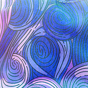 Spiral Psychedelic design in purple blue and reds