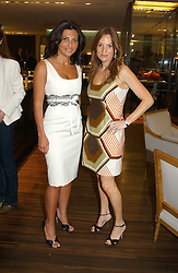 Left to right, ELLA KRASNER and EMILY OPPENHEIMER at a party to celebrate the publication of 'The Russian House' by Ella Krasner held at De Beers, 50 Old Bond Street, London W1 on 9th June 2005.<br />