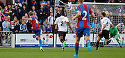 Patrick Bamford firing in Palace's second during the Pre-Season Friendly match between Bromley and Crystal Palace at the Courage Stadium, Bromley, United Kingdom on 30 July 2015. Photo by Michael Hulf.