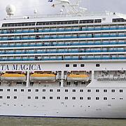 NLD/Amsterdam/20110907 - Aankomst cruiseschip Costa Magico uit italie in de haven van Amsterdam