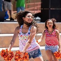 Alyssa Gonzales, 15, and the Gallup High School Bengal Girls Dance Team perform for the crowds at the Fourth of July celebration at the McKinley County Courthouse Square on Thursday in Gallup.