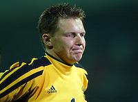 Fussball - International Keeper Frank ROST, enttaeuscht deutscher Nationalspieler