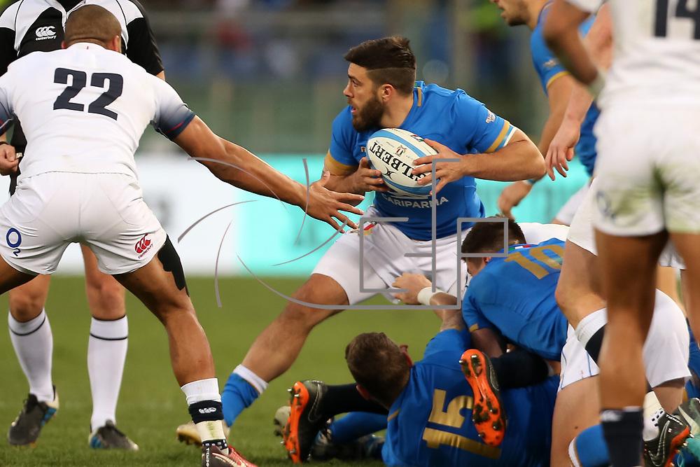 Roma 04/02/2018 Stadio Olimpico<br /> Natwest 6 nations Italia vs Inghilterra<br /> Edoardo Gori