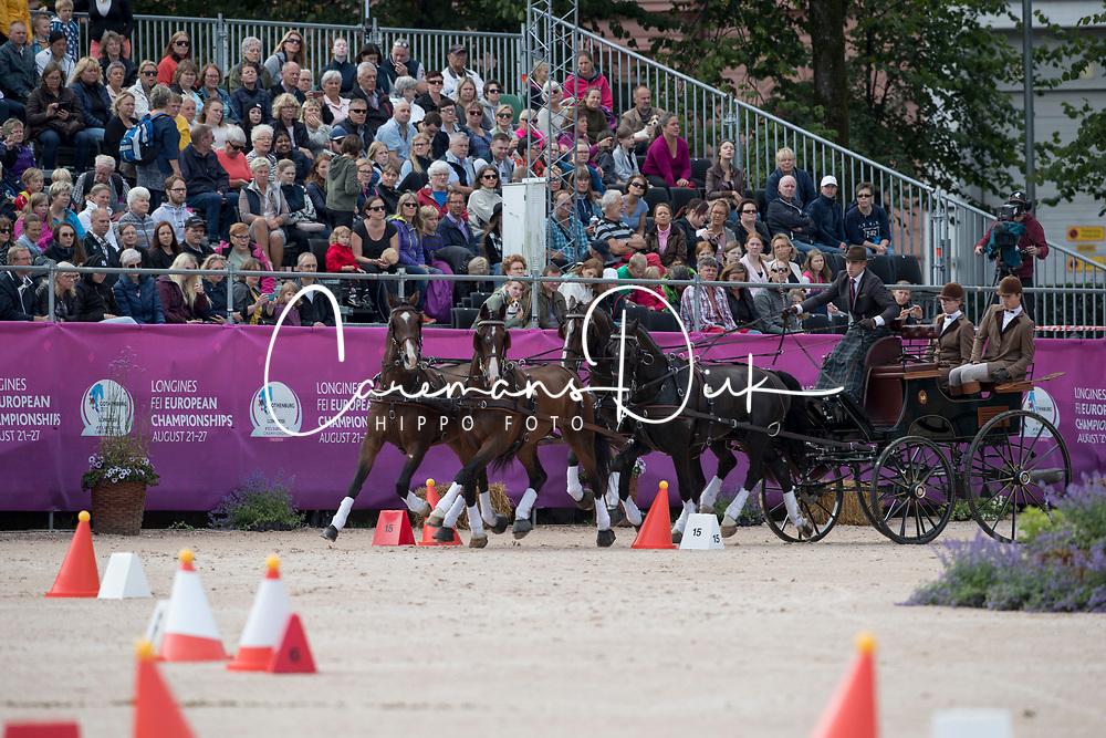 Degrieck Dries, BEL, Charlie, Dirk, Garrelt, Grenadier<br /> FEI European Driving Championships - Goteborg 2017 <br /> &copy; Hippo Foto - Dirk Caremans